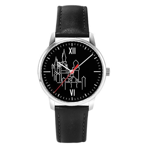 Königsschloss Edition Armbanduhr, silber/ schwarz - Exklusiv