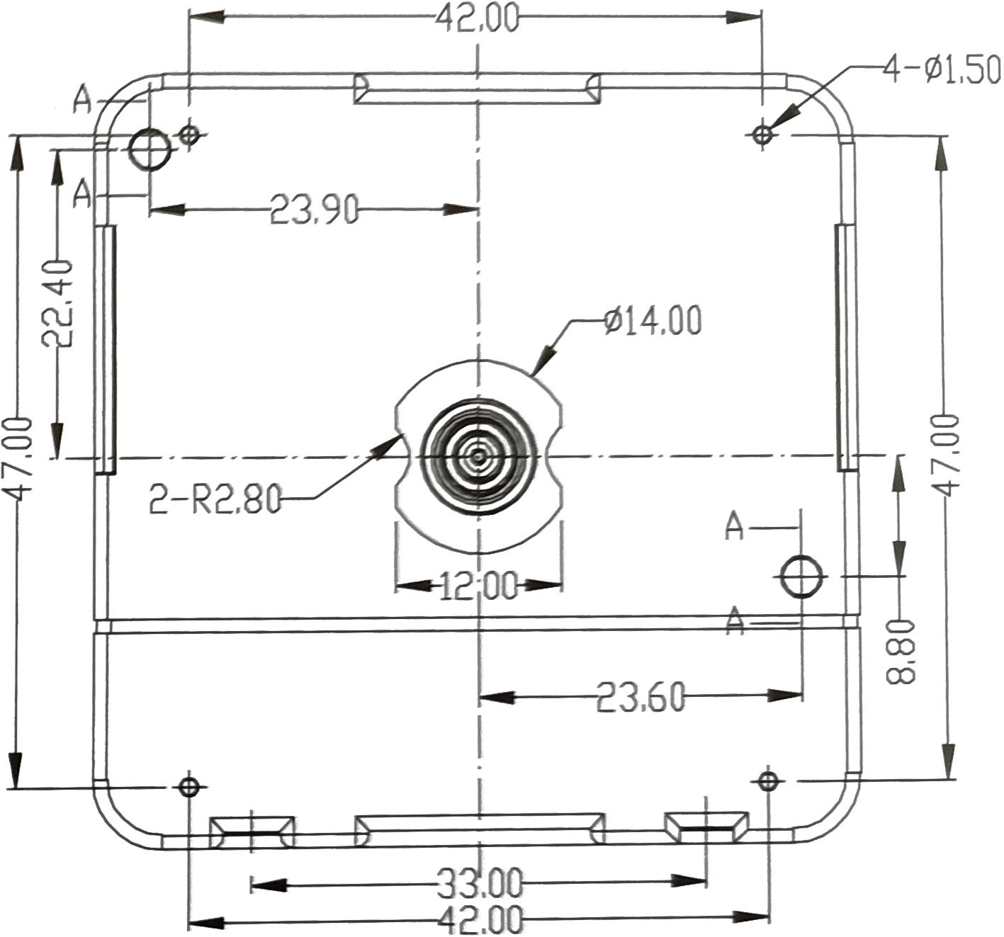 EXKLUSIV: Quarz-Uhrwerk-Set LP inkl. Zeiger, schleichende Sekunde, ZWL 11mm - ideal für dünne Trägerplatten wie z.B. Schallplatten