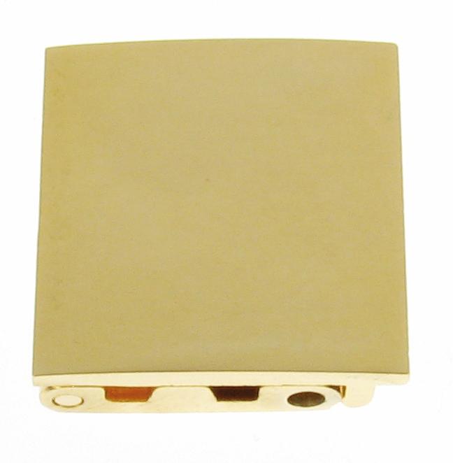 Klappschloss Metall 10,0 mm gelb vergoldet, poliert zum Schrauben