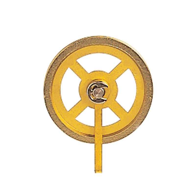 Katrol met beugel messing Ø:28 mm groef-B:1 mm