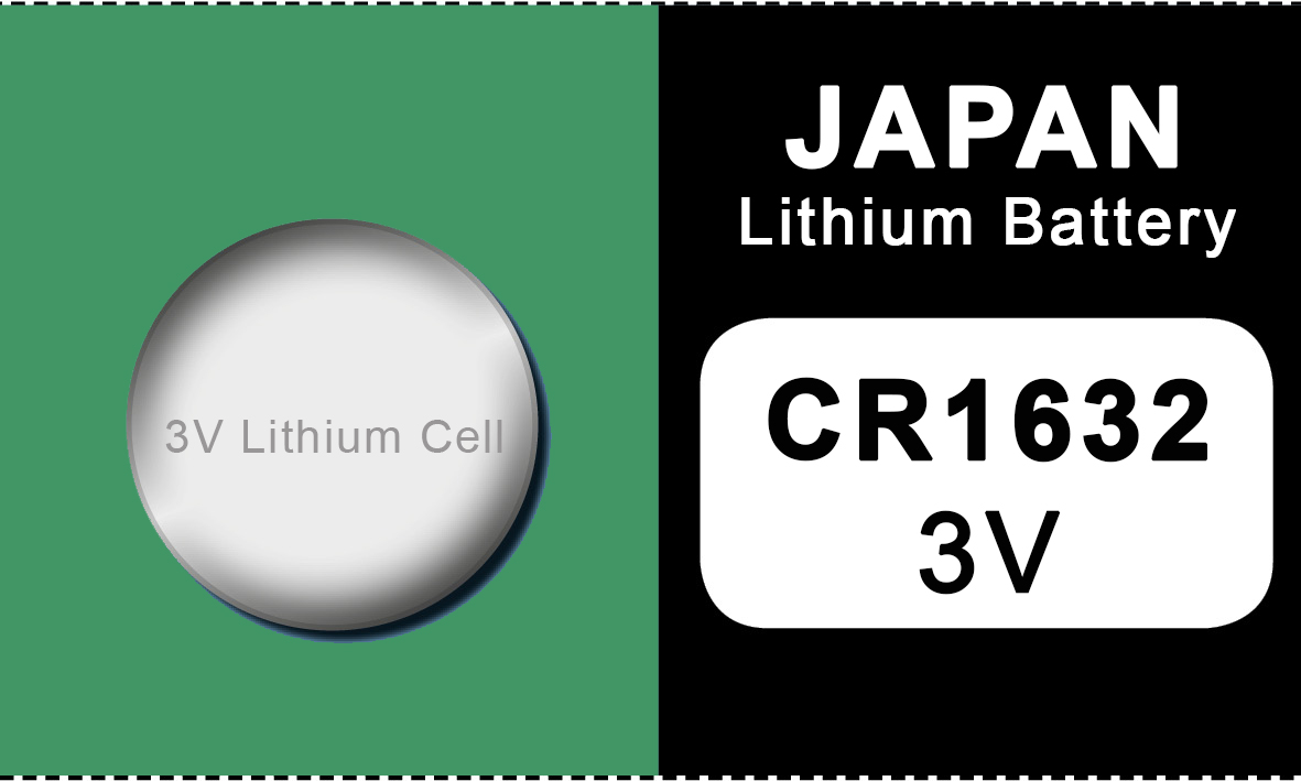 Japan 1632 lithium knoopcel