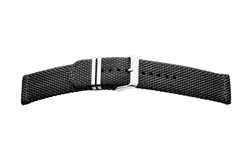Nylonband doppelt gelegt 22mm schwarz