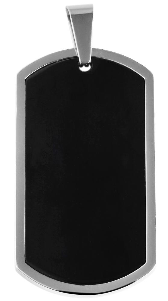 hanger gravure edelstaal zwart 24 x 44mm