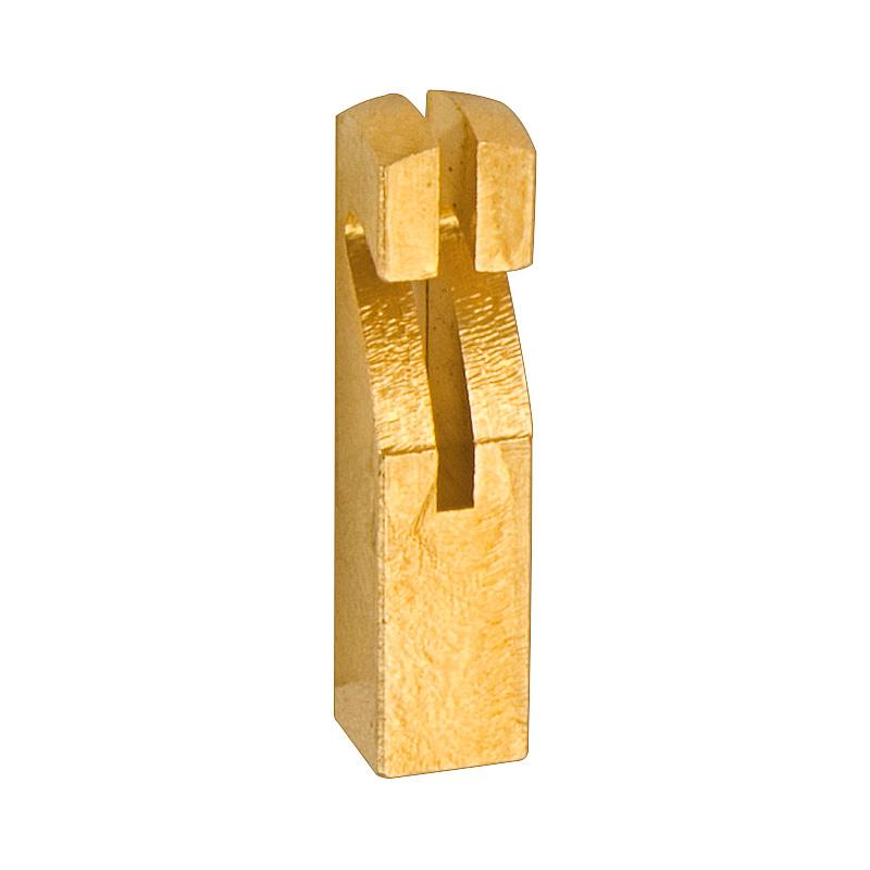 Pendelhaken aus Messing 4x4x17,5mm