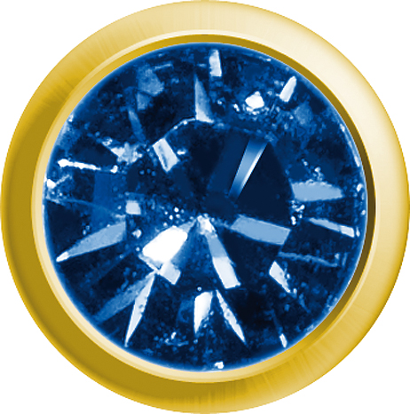 Erstohrstecker Easy Piercy Classic Ø 2,95 mm vergoldet Mini Saphir