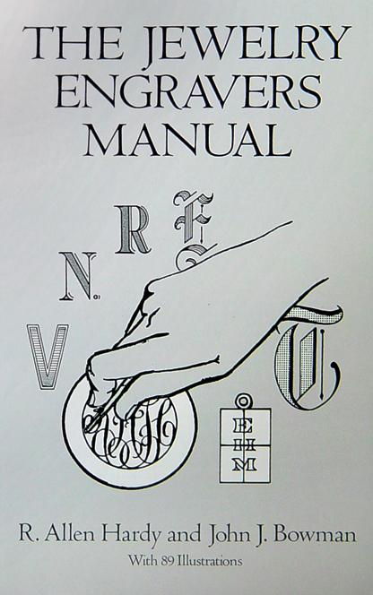 boek The Jewelry Engravers Manual, 143 bladzijden, Engels