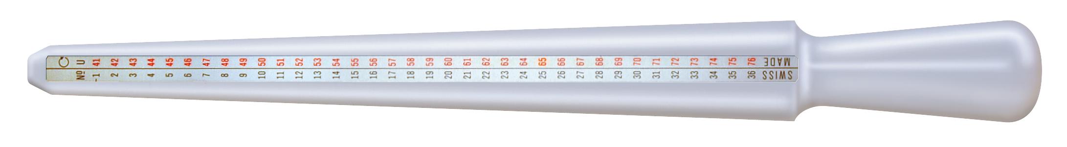 Ringstock aus Delrin-Kunststoff weiß Bergeon