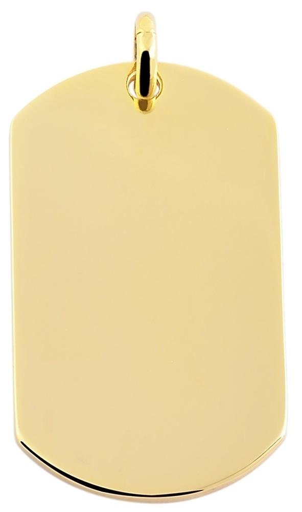 hanger gravure edelstaal goud 22 x 36mm