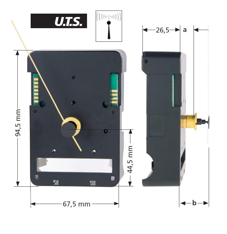 Tijdsein uurwerk FT, WWL 12,00mm,  extra sterk