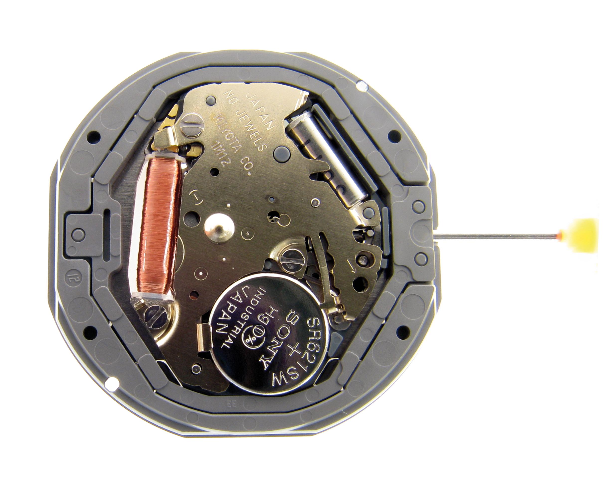 Kleinuhrwerk Quarz Miyota 1M12 SC, D6