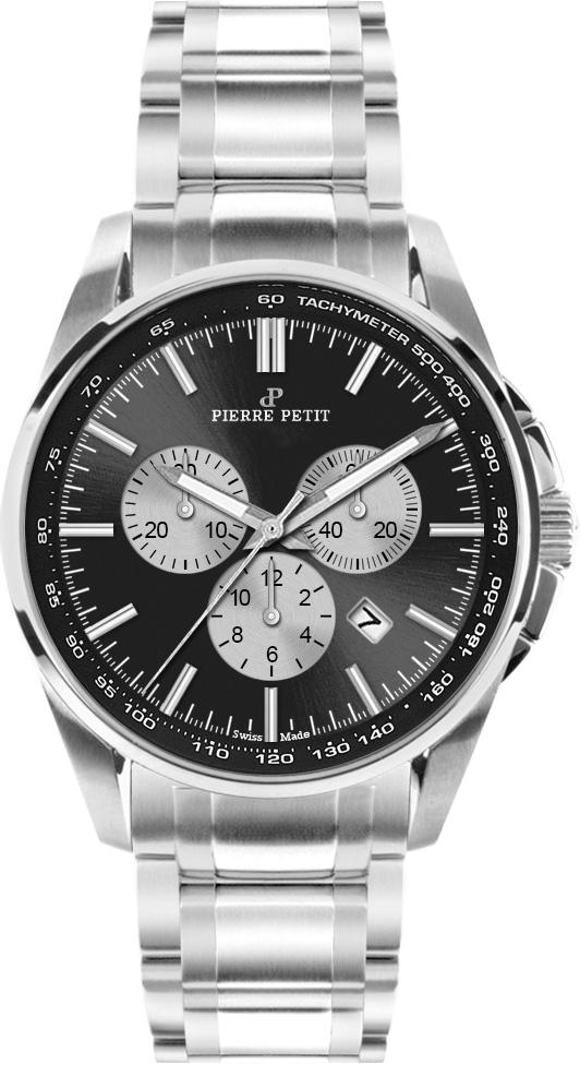 Pierre Petit Chronograaf Le Mans zwart - Swiss Made