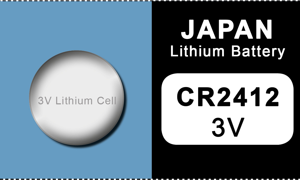 Japan 2412 lithium knoopcel