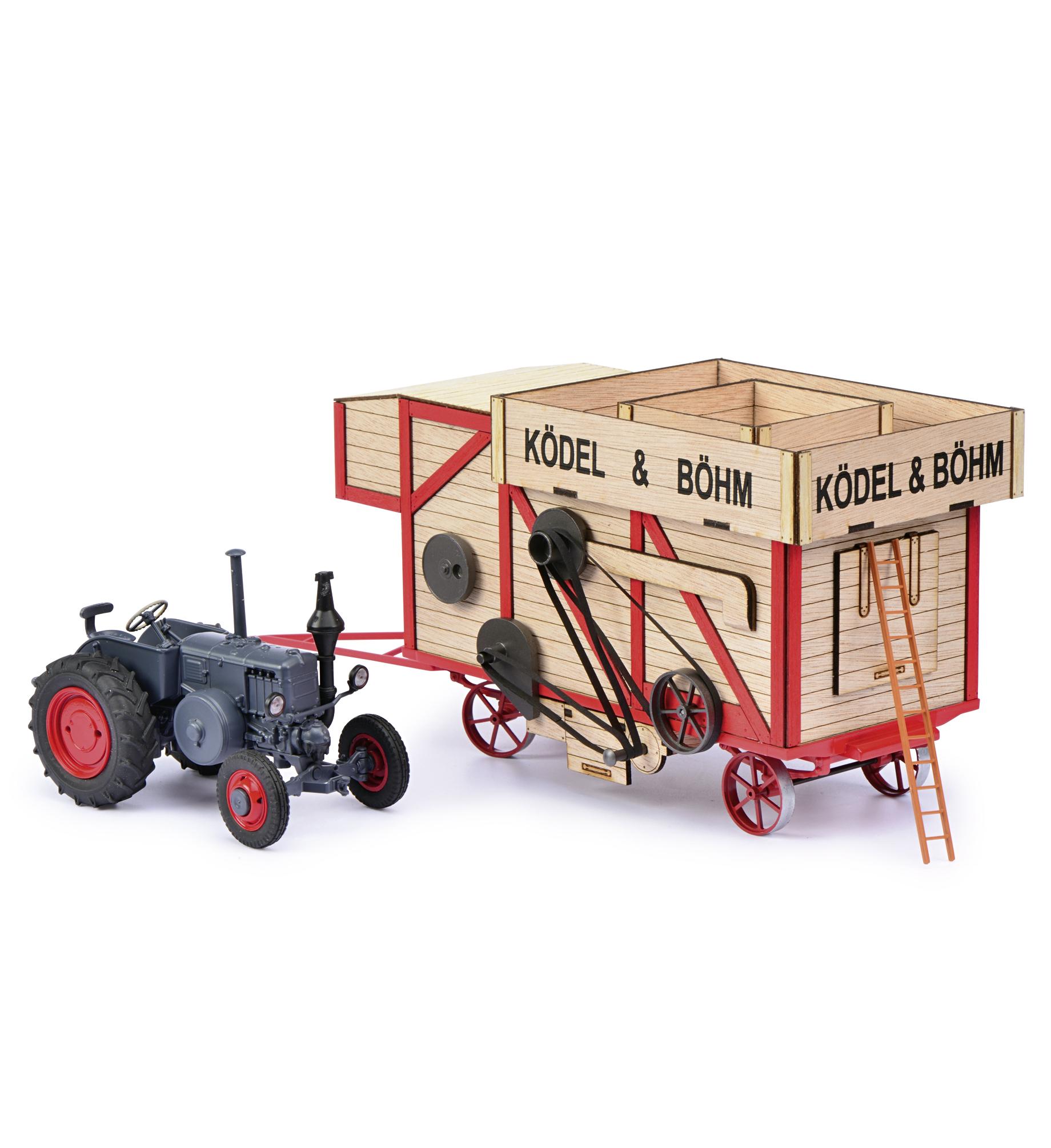 SCHUCO-Modell Lanz mit Dreschmaschine 1:32