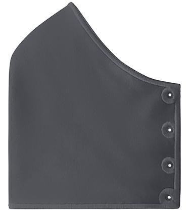 Mond- en neusmasker HappyCurve met individueel gestikt logo, donkergrijs