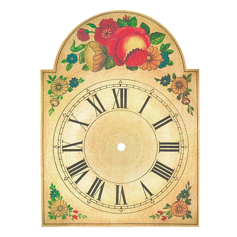 Uhrschild Blüten 75x115mm