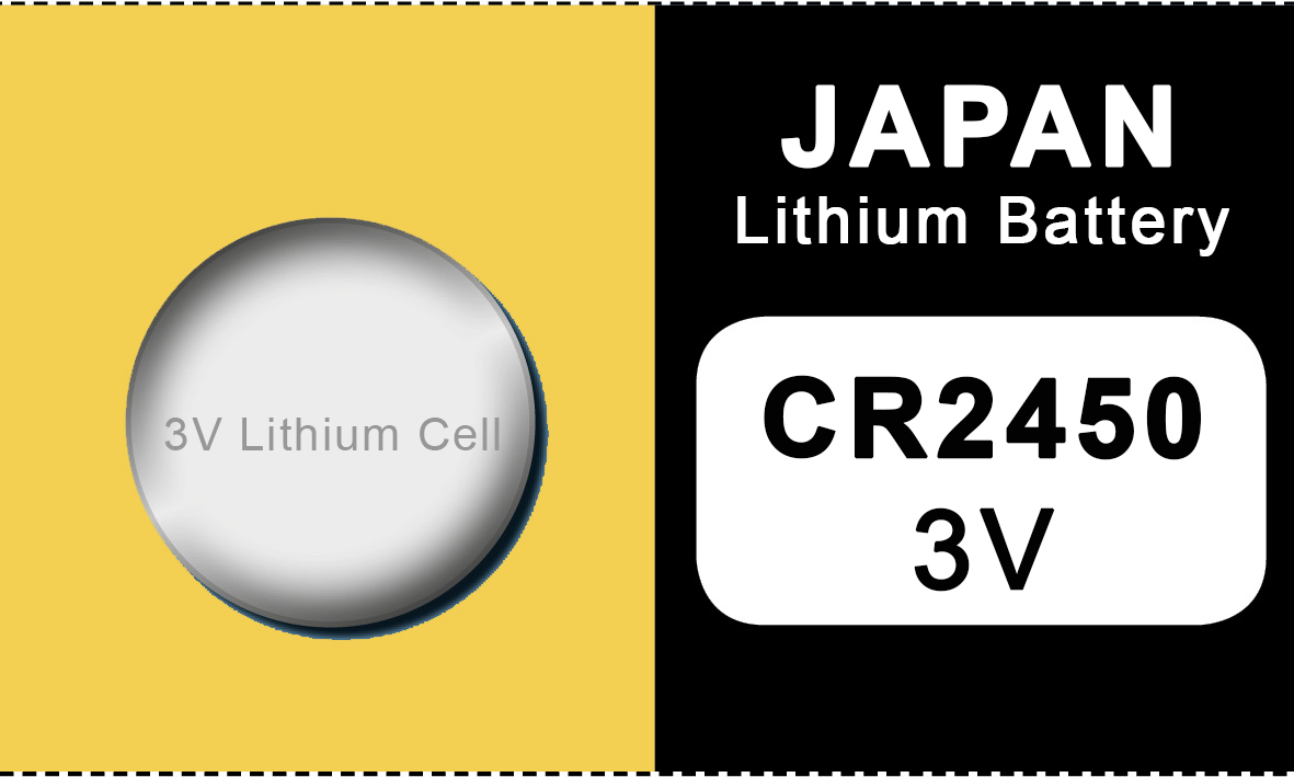 Japan 2450 lithium knoopcel