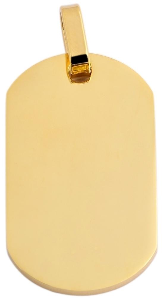 hanger gravure edelstaal goud 22 x 38mm