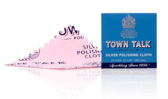 Mr Town Talk Dinky Silber Poliertuch 6,5cm x 6,5cm