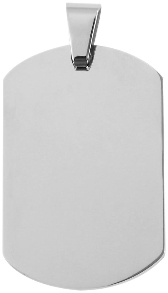 hanger gravure edelstaal basic Akzent zilver 24 x 37mm