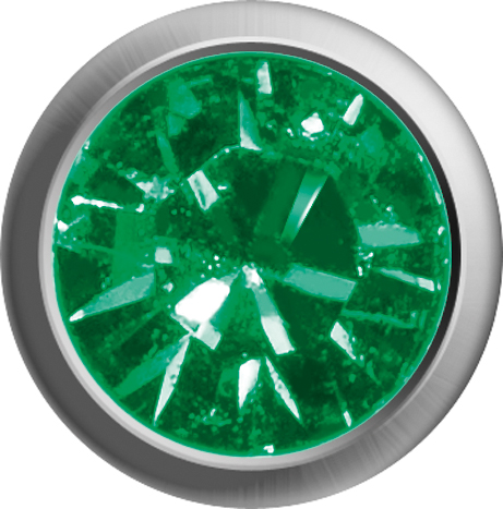 Erstohrstecker Easy Piercy Classic Ø 2,95 mm weiß Mini Smaragd