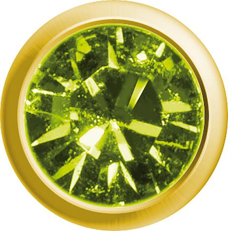 Erstohrstecker Easy Piercy Classic Ø 2,95 mm vergoldet Mini Peridot