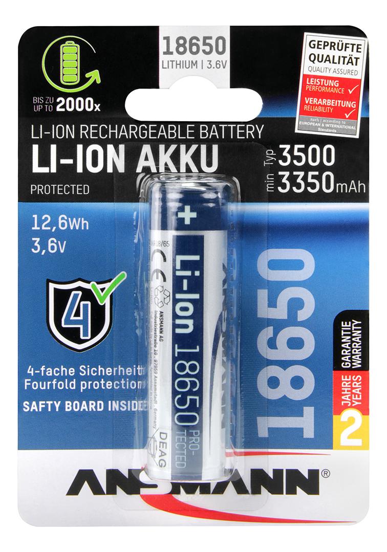 Ansmann 18650 Batterie Akku