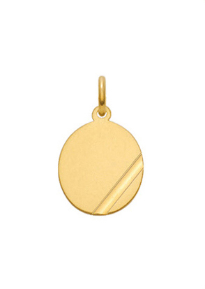 graveerplaatje goud 333/gg ovaal