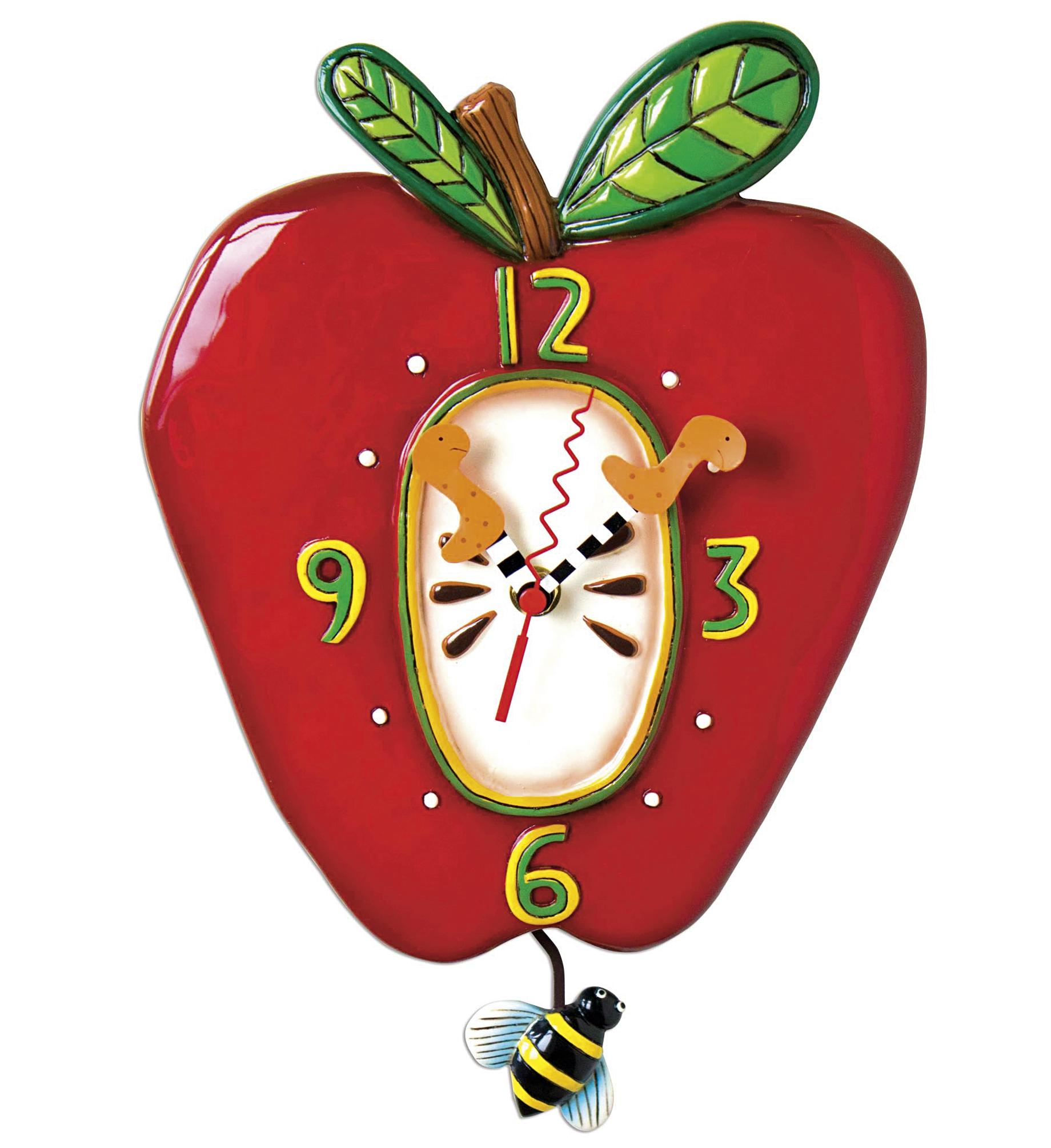Quarz-Pendelwanduhr Apfel