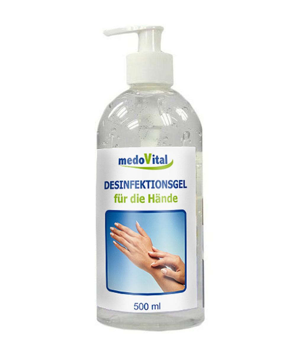 Desinfektionsgel in Spender für die Hände, 500ml