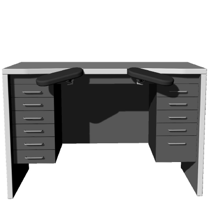 Benchalist Uhrmachertisch Modular IV- Solid II inklusive Container