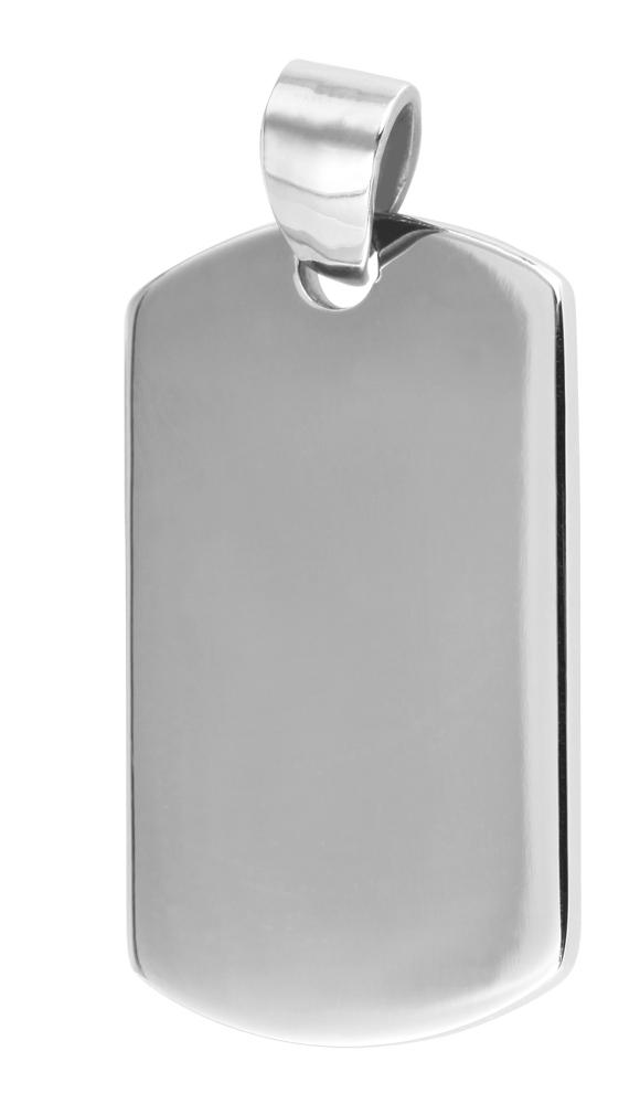 hanger gravure edelstaal basic Akzent zilver 16 x 27mm