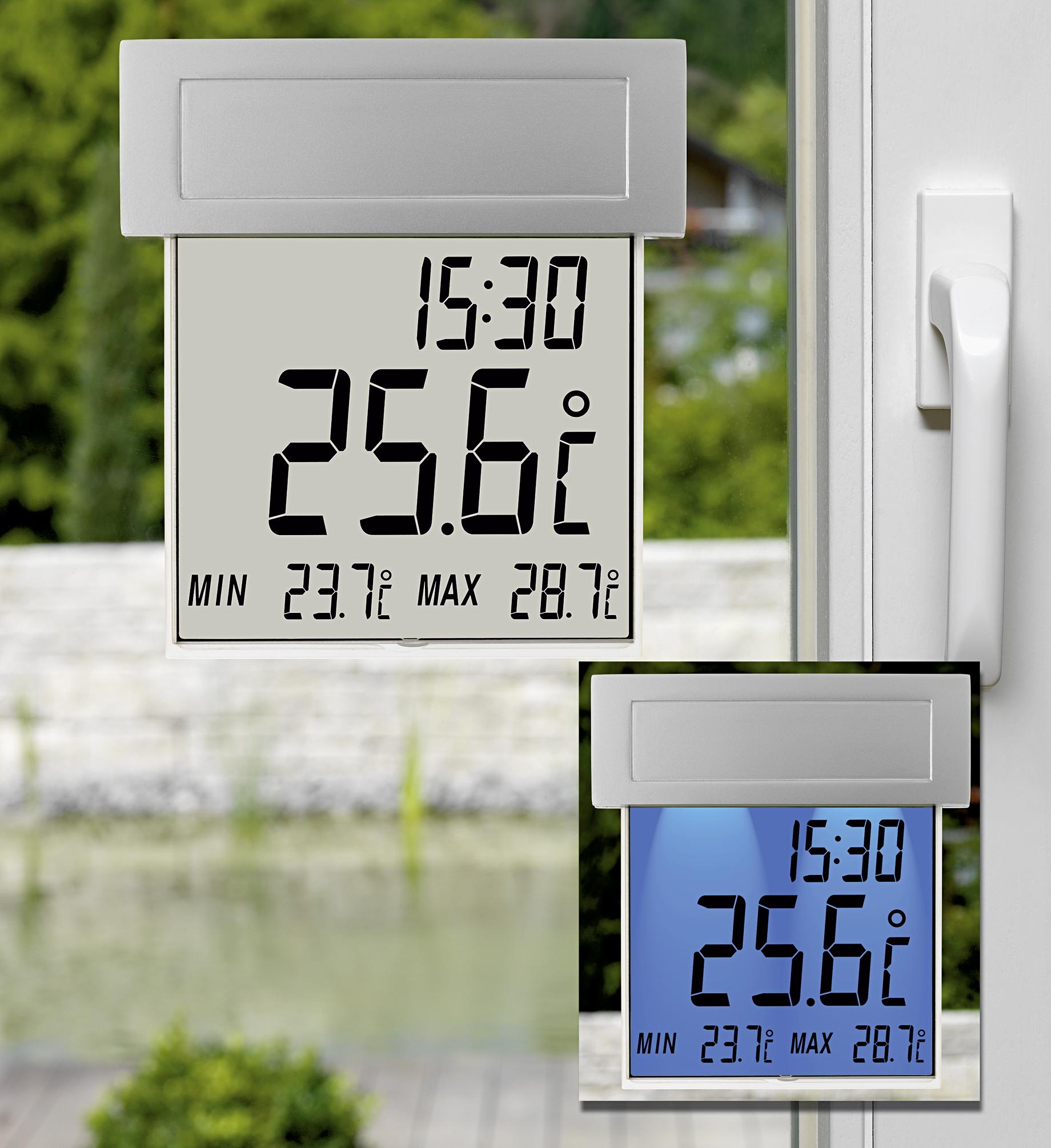 Wetterinstrumente TFA Solar-Fensterthermometer