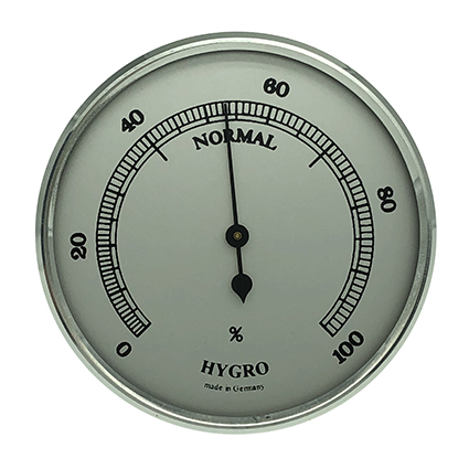 Hygrometer Einbau-Wetterinstrument Ø 85mm, silber