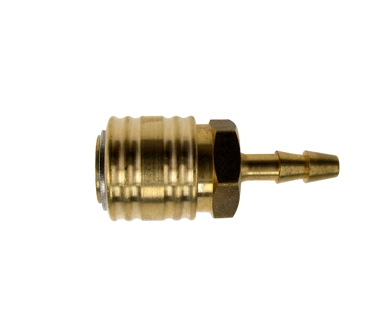 Snelkoppeling DN 7,2 met slangklem voor slang binnenkant Ø 6 mm