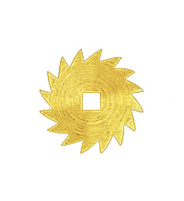 Sperrrad Messing  Außen-Ø:10 Vierkantloch:2,1x2,1mm