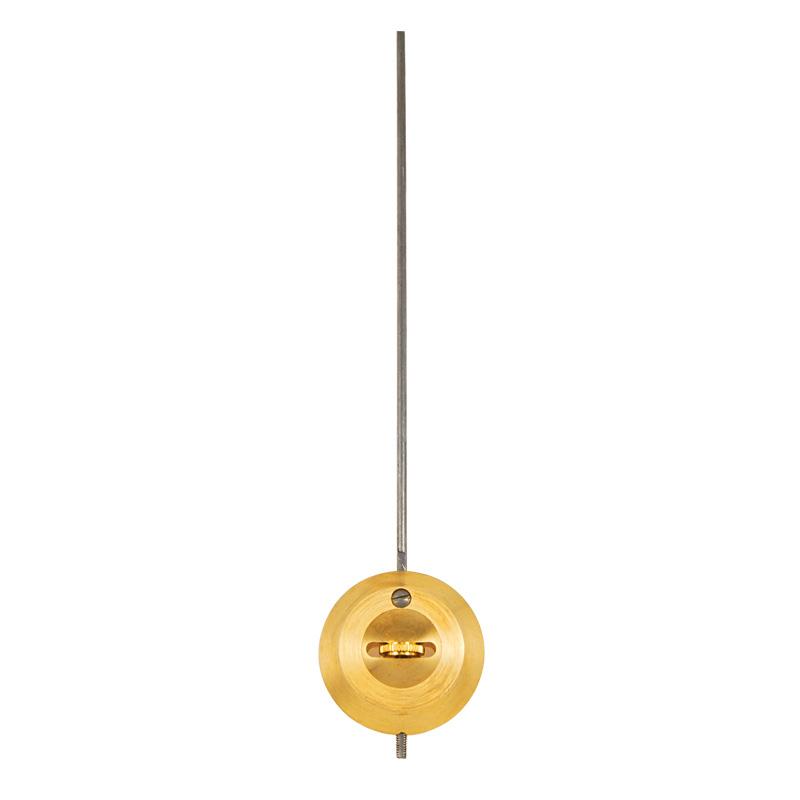 Pendel für französische Pendulen L: 225mm Pendelscheibe Ø 35 mm