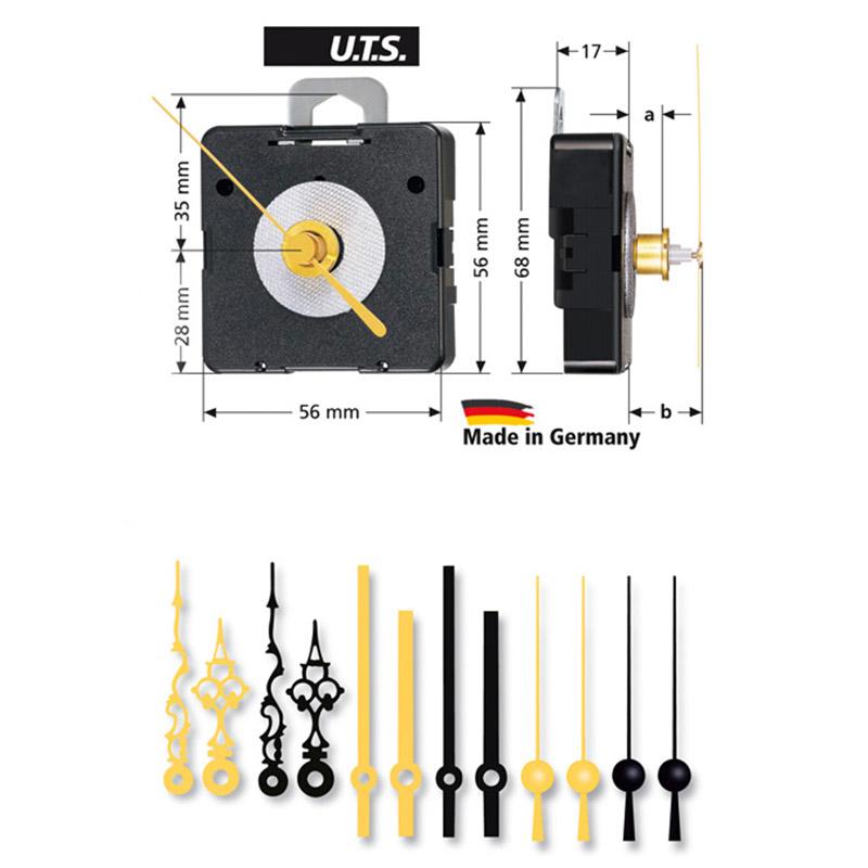 Kwarts uurwerken set WF, UTS 800, WWL 13,5mm