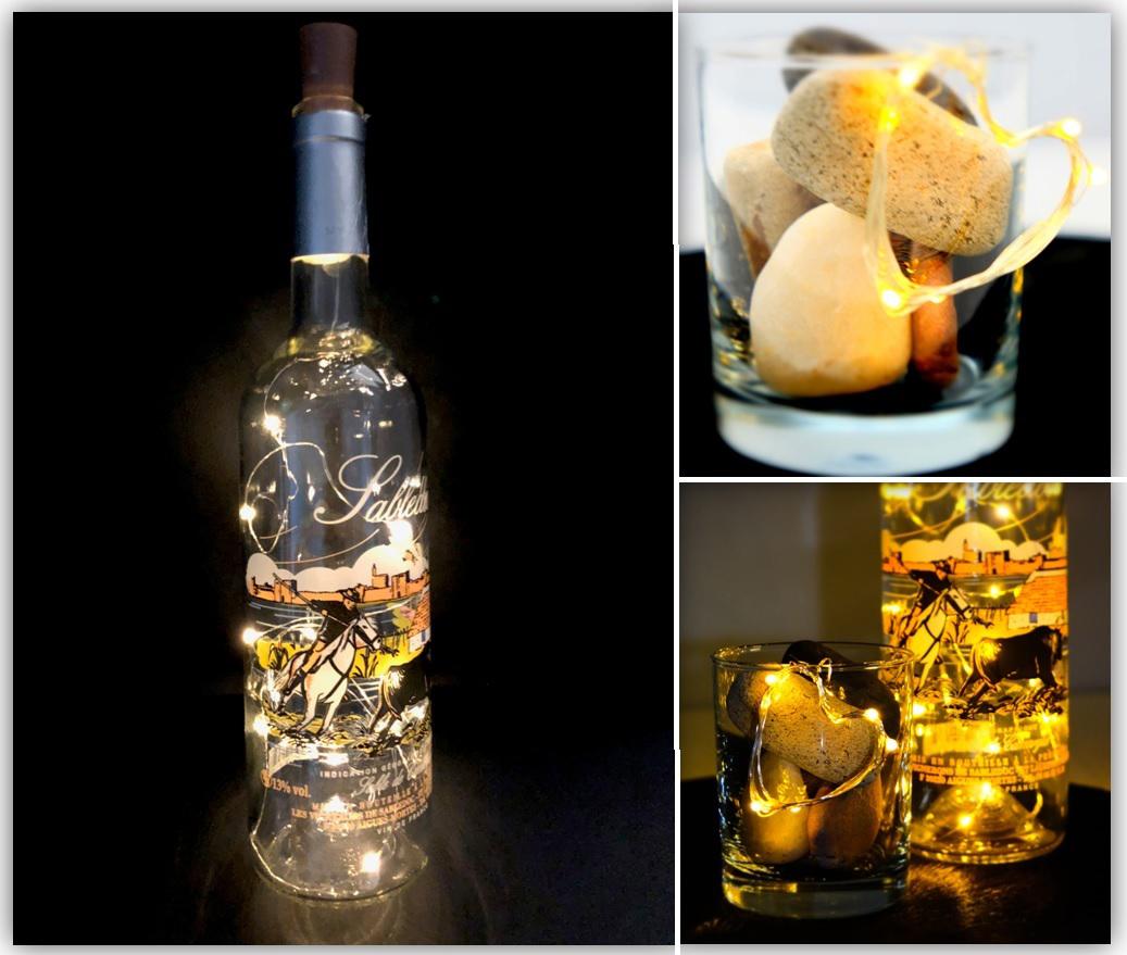 Bottle-Light Deko-Licht, 4 Stk.