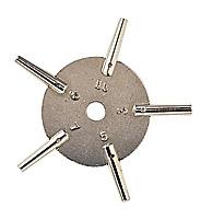 Sternschlüssel für TU Nr-2-4-6-8-10 Vierkant 1,75-1,60-1,40-1,20-1,05 mm