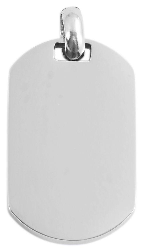 hanger gravure edelstaal basic Akzent zilver 21 x 34mm