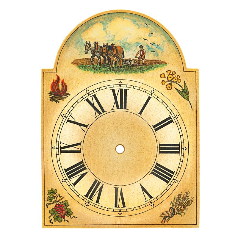 Uhrschild Bauer mit Pflug 200x275mm