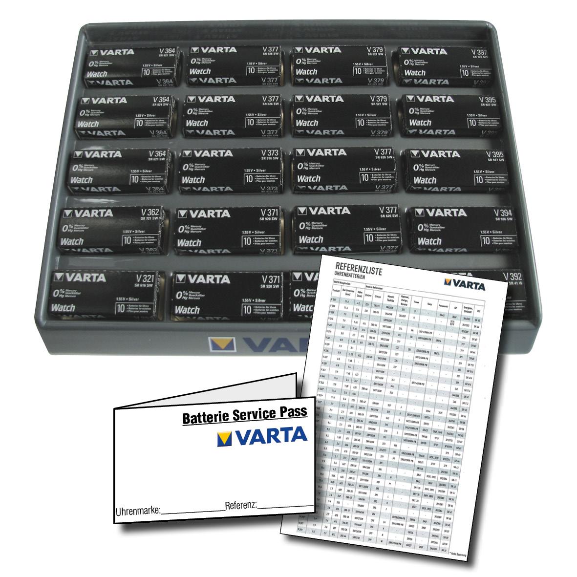 Varta Starters Pakket met 200 batterijen, Display en batterijpassen