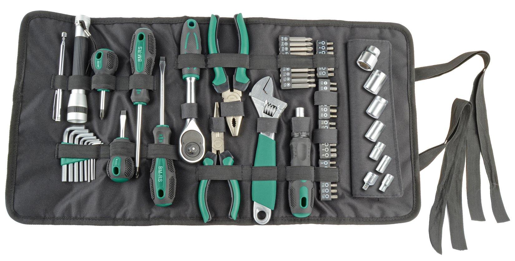 BRÜDER MANNESMANN Werkzeug-Rolltasche 65-teilig