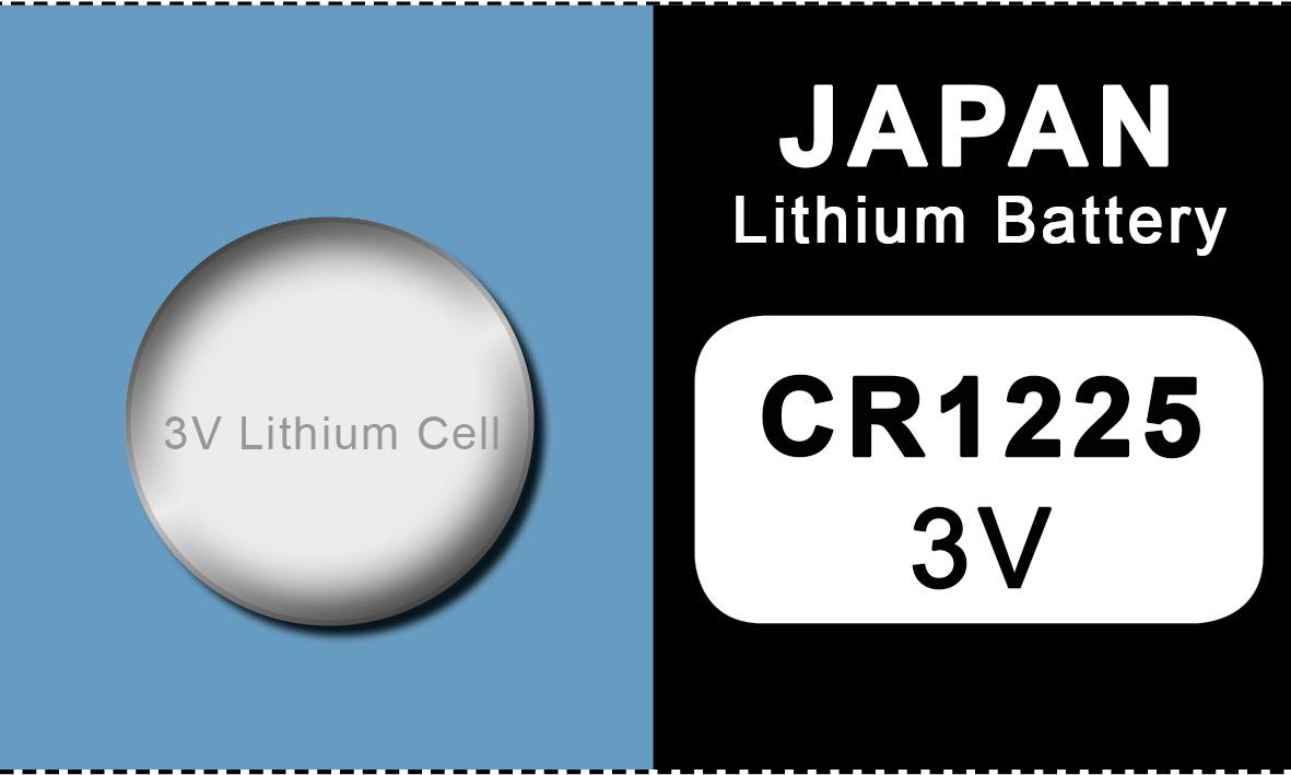 Japan 1225 lithium knoopcel