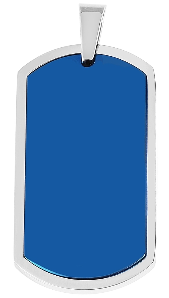 hanger gravure edelstaal bicolor 25 x 45mm