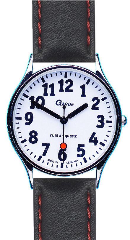 Uhren Manufaktur Ruhla - Spezialuhr - extra große Ziffern - kontrastreich - für Menschen mit Sehschwäche