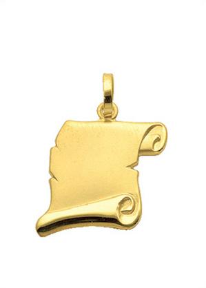 graveerplaatje goud 333/gg hoekig