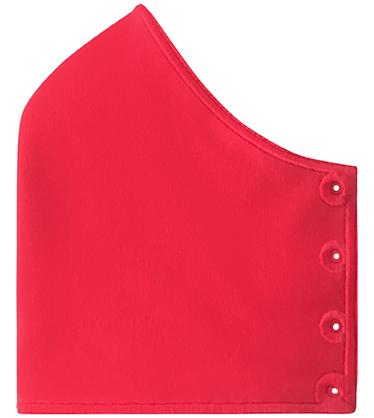 Mund-Nase-Bedeckung My Happy Curve unbestickt, rot