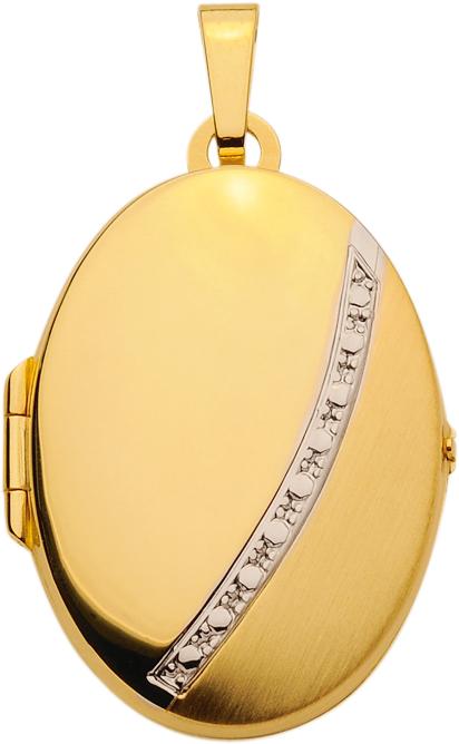 medaillon goud 333/rh ovaal