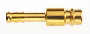 Stekker voor snelkoppeling DN 7,2 met slangklem voor slang buitenkant Ø 6 mm